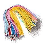 Beadthoven 100 Strands Multi-Strand Ribbon Necklace Cord for Jewelry Making Handmade Accessories Finding Supplies