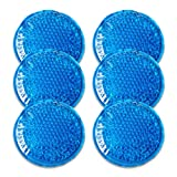 Reusable Gel Beads Ice Pack (6 Packs)-Small ice Packs Hot & Cold Compress, Cold Pack for Muscle Pain Relief, Knee Pain, Headache, Wisdom Teeth, etc.