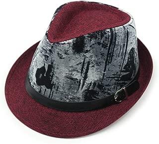 KFEK Linen Landscape Painting Coating Craft Belt Buckle hat Jazz hat Outdoor Sun hat