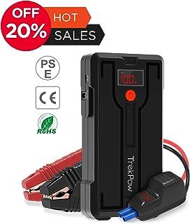 Trekpow G39 ジャンプスターター/最大1200A電流/6.5ガソリン車・5.5Lまでのディーゼル車、モーターバイクに対応/QC 3.0 、DCポート、USB-C搭載/スマホ急速充電器/スマートブースターケーブル/LEDフラッシュライト/エンジンスターター/24ヶ月保証