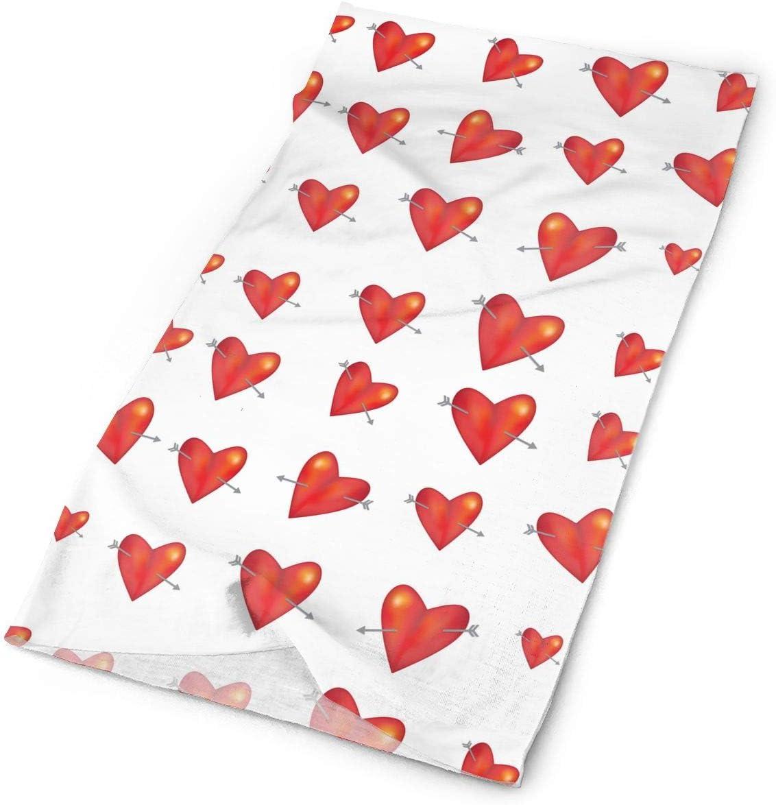 LCZ Magic Headwear Red Arrow Love Heart Candy Scarf Headbands Bandana Mask Neck Gaiter Head Wrap Mask Sweatband