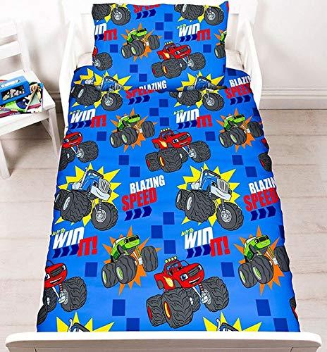 Unbekannt Style It Up Bettwäsche-Set, wendbar, Blaze & AJ Monster-Maschinen, Blaze Zoom, Cot Bed/Junior/Toddler