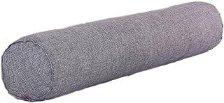 Nunubee Lino Color sólido Almohada de Caramelo Rollo Almohadas de Refuerzo Almohadas de Embarazo Almohada para el Cuello para el hogar Cama Sofá Cojín 15X40CM Gris