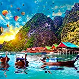 SOULRyte 1000 Piece Jigsaw Puzzle - Divine Paradise Puzzle 1000 - Tropical Island Puzzle 1000 Pieces and up - Beautiful Puzzles for Adults 1000 Piece