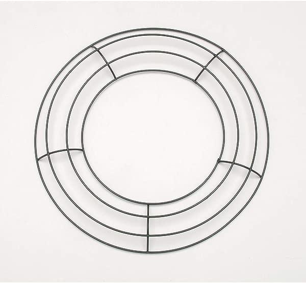 Darice Bulk Buy DIY Metal Wreath Form Green 10 Inches 10 Pack 170120