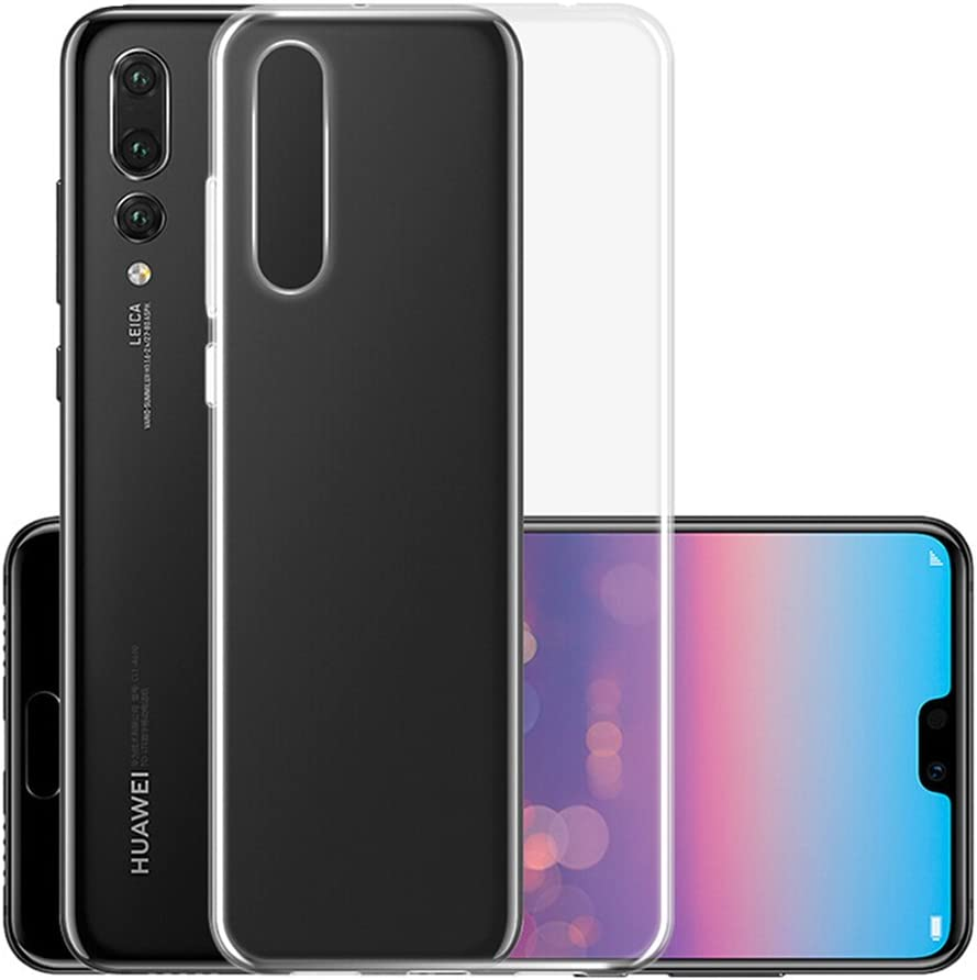 Huawei P20 Pro Custodia Cover, QULLOO Case in Morbido Silicone di Gel Antigraffio in TPU Ultra Slim Thin Cover Protettiva - Trasparente