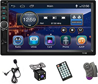 $66 » Newly Designed UI Double Din Car Stereo Radio 7''HD Touch Screen Car MP5 Multimedia Player with Bluetooth FM Radio Receive...