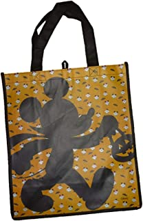 Mickey Mouse, Spiderman, Character Re-usable Tote Trick or Treat Bag (Orange-Mickey Mouse Shadow)
