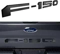Tailgate Insert Letters for Ford F150 2018 2019 2020 - 3M Adhesive & 3D Raised Tailgate Decal Letters - Matte Black