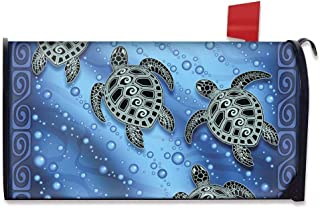 AFPANQZ Mandala Turtle Mailbox Covers All Season Standard Size Watercolor Magnetic Mail Cover Boho Animal Printed Thin Let...