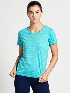 Jockey AW10-0103 Women's Athleisure T-Shirt, Medium, Teal