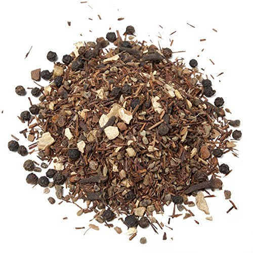 Aromas de Té - Té Infusión Rooibos Chai sin Teína con Anís, Jengibre, Pimienta Negra, Cardamomo, Canela y Clavo a Granel, 100 gr