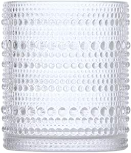 Fortessa Jupiter Collection Double Old Fashioned Cocktail Glass, Set of 6, 10 Ounce, Clear