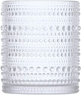 D&V By Fortessa Jupiter Double Old Fashion Glass, 10 Ounce, Set of 6 (Clear)