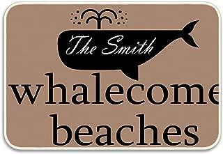 Ranhkdn Whale Bay Beach Pattern Doormat Entrance Mat Floor Mat Rug Non Slip 20x32 inch