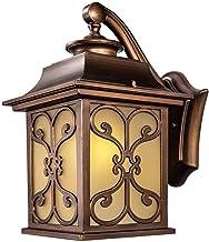 NZDY Vintage vierkante vlinder patroon wandlantaarn, IP54 waterdicht balkon patio wandlamp vintage villa tuin gang wandlam...