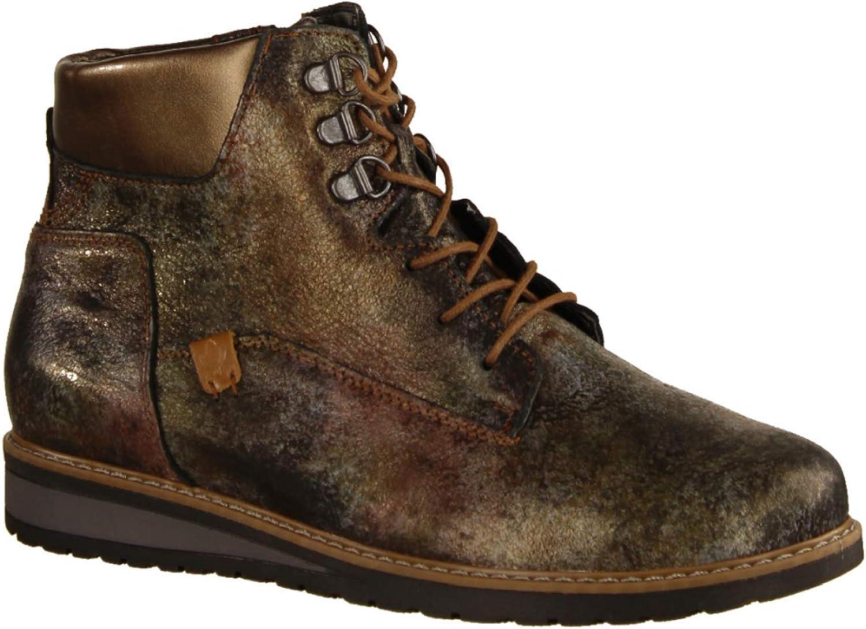 Waldläufer Havida 379802-038- Damenschuhe Bequeme Stiefel-Stiefeletten, Braun, Leder (beri Memphis), absatzhöhe  25 mm  | Sehr gute Qualität