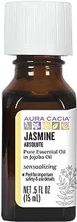 Aura Cacia Jasmine Absolute in Jojoba Oil   GC/MS Tested for Purity   15ml (0.5 fl. oz.)