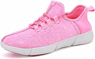 Kids Women Men Fiber Optic LED Light up Shoes USB Charging Flashing Sneakers Christmas Party Led Shoes