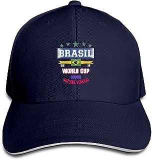 JimHappy Brasil-Russia-2018-Futebol Cartoon Trucker Cap Durable Baseball Cap Hats Adjustable Peaked Sandwich Cap