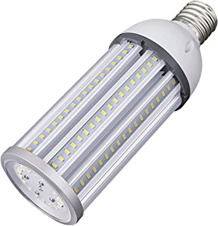 54W LED Corn Light Bulb E39 Mogul Base LED Lights Equivalent(300W) 5000K Daylight IP65 Waterproof Replacement HID HPS for Indoor Area Warehouse High Bay Street Light