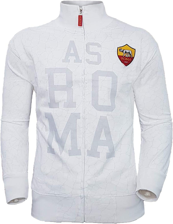 AS Roma Felpa Bambino Full Zip in Cotone Prodotto Ufficiale Art ...