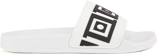 Versace Collection Collection Collection Herren Pantoletten Bianco - schwarz  kostenlosen Versand für alle Bestellungen