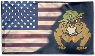 NPZBHoney3x5 Marine Corps Bulldog USMC Logo Flag 3' X 5' Ft Banner Breeze Flag