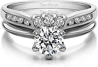 0.33Ct Size 3 to 15 in 1//4 Size Interval Black CZ Notched Curved Shadow Band in Rose Gold Plated Silver