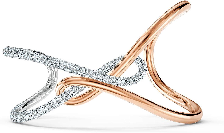 Amazon.com: SWAROVSKI Infinity Cuff Bracelet White 1 One Size: Jewelry