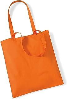 Shirtinstyle Premium Stoffbeutel Baumwolltasche Beutel Shopper Umhängetasche, Farbe orange