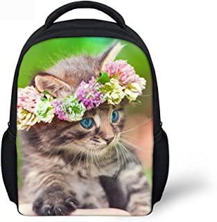 CHAQLIN Floral Child Pussy Mini Backpack for Preschooler