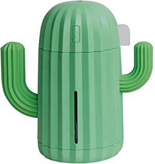 POKL Humidifier Mini Cactus Humidifier, Portable Desktop Machine With LED Night Light, USB Charging, Suitable For Office D...