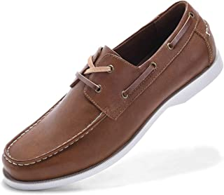 GM GOLAIMAN Men's Boat Shoes Slip On-Modern Casual Work Loafer Stylish Moc Toe Walking Driving Shoes