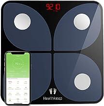 Talla Grande Báscula Grasa Corporal Báscula de Baño Wireless Báscula Baño Digital Analizar Más de 13 Funciones, Monitores de Composición Corporal Máximo 180kg para Andriod y iOS (Negro)