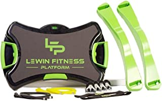 Lewin Fitness Platform -The most versatile home gym in the world.30 Level Resistance, Set of Interchangeable Stretch Resistance Bands, Allows to Perform more than 150 Exercises, USB workouts included.