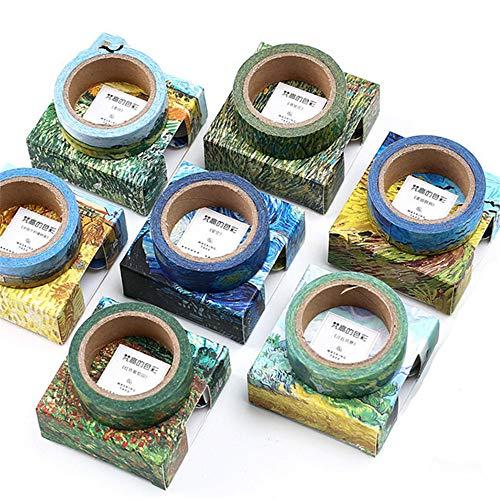 Sarah Duke Multi-Muster Dekoratives Washi-Tape Klebeband Klebeband für Scrapbooking DIY Craft Geschenk 15 mm breit (7 x Muster)
