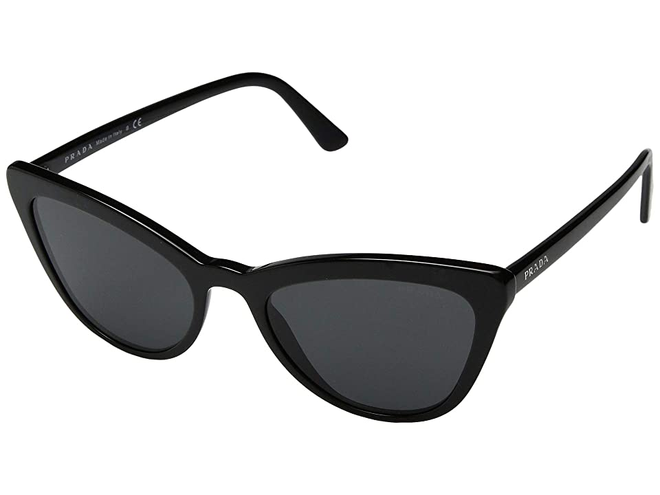 Image of Prada 0PR 01VS (Black/Grey) Fashion Sunglasses