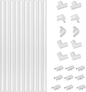 D-Line 3015W-400 White Medium Trunking Kit, 4-Meter Self-Adhesive Hider, Management to Hide Wires on Wall, Cable Tidy Solu...