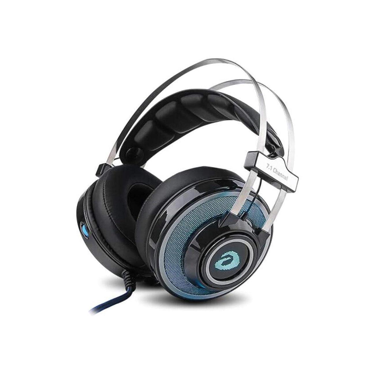 資源バッチ欠陥ZGSH ファッショナブルなヘッドフォン、ヘッドフォンゲーミングヘッドセット、ヘビーベース、グリーン (Color : Blue)