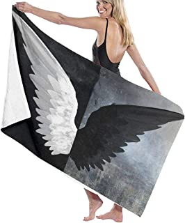 XBYC Toalla de ba/ño Large Travel Microfiber Bath Towels Feather Pattern Quick Dry Beach Towel for Camping Hiking and Home Use Swimmers Super Absorbent Lightweight Towel