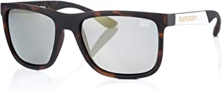 Superdry Unisex Polarized Sunglasses - Rubberised tortoise/white solid smoke with gold mirror - SDRUNNERX-102P - size 56-1...