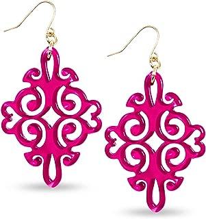 Best hot pink drop earrings Reviews