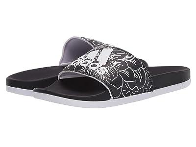 adidas Adilette Comfort (Core Black/Footwear White/Purple Tint) Women