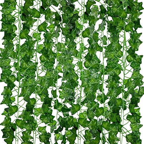 ASHINER Enredaderas Artificiales Decoracion otoño para el hogar, Plantas Hiedra Artificiales,...