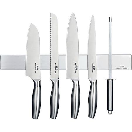 G.a HOMEFAVOR Barre à Couteaux Amantée Barre Magnetique Porte-Couteaux INOX 40 cm * 4.5 cm