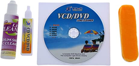 Xigeapg 4 in 1 CD DVD ROM Player Maintenance Lens Cleaning Kit