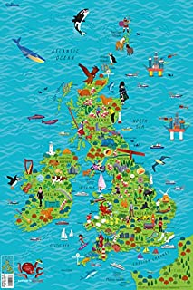 childrens map of ireland
