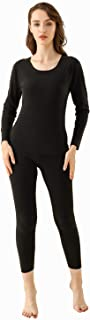 Women's Invisible Thermal Underwear Fleece Lined Thermals Base Layer Long John Set