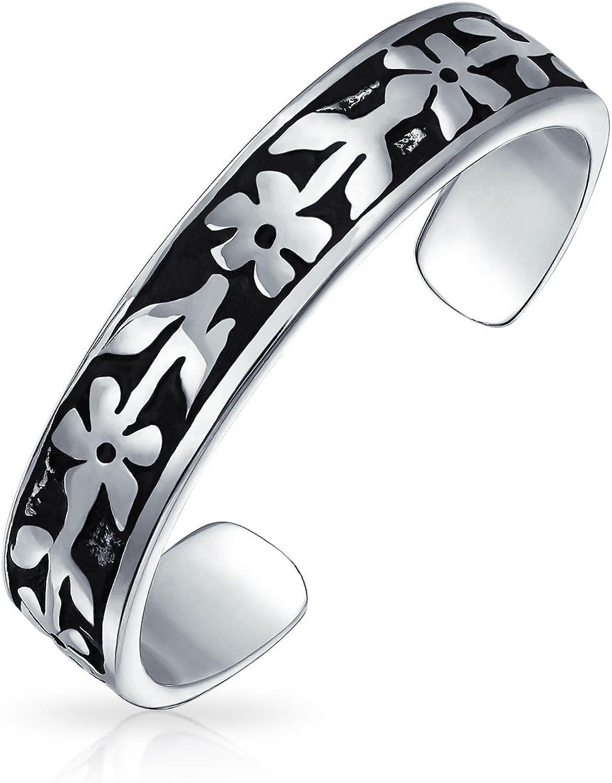 Personalized Engravable Mid Finger Max 64% OFF Flowers Midi Vine Toe Ri Jacksonville Mall Leaf